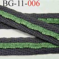 biais galon ruban couleur gris et le vert est brillant  largeur 11 mm vendu au mètre