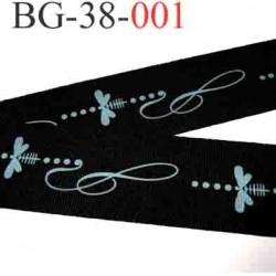 biais galon ruban couleur noir et bleu très très solide et souple  largeur 38 mm vendu au mètre