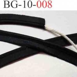 galon biais ruban passe poil satin largeur 10 mm couleur noir satin cordon coton vendu au mètre