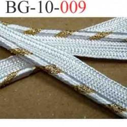 galon biais ruban passe poil brillant largeur 10 mm couleur blanc et or santin très brillant superbe très solide vendu au mètre