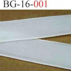 biais galon ruban en velour fin très doux couleur blanc  largeur 16 mm vendu au mètres