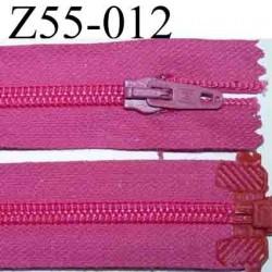 fermeture éclair longueur 55 cm couleur rose fushia séparable largeur 3 cm  zip nylon largeur 6 mm