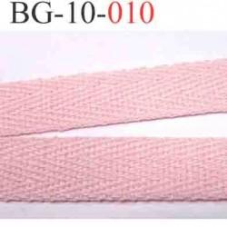 biais sergé galon ruban couleur rose  largeur 10 mm vendu au mètre