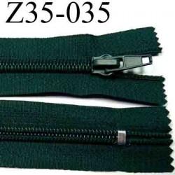 fermeture  éclair  longueur 35 cm couleur vert non séparable zip nylon largeur 3,2 cm largeur du zip 6,5 mm curseur métal
