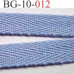 biais sergé galon ruban couleur bleu largeur 10 mm vendu au mètre
