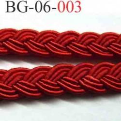 biais galon ruban tréssé couleur rouge souple très beau largeur 6 mm vendu au mètre
