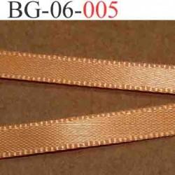 biais galon ruban satin couleur orange brillant lumineux double face très solide largeur 6 mm vendu au mètre