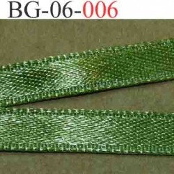 biais galon ruban satin couleur vert brillant lumineux double face très solide largeur 6 mm vendu au mètre