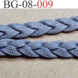 biais galon ruban trèsse double face  couleur gris souple très solide largeur 8 mm vendu au mètre