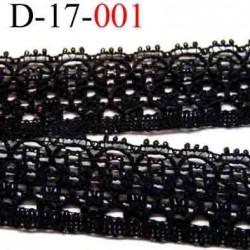 dentelle  largeur 17 mm   couleur noir vendue au mètre