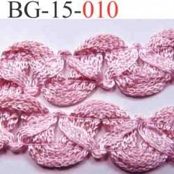 biais galon ruban en tresse couleur rose lumineux brillant très beau très souple et doux largeur 15 mm vendu au mètre