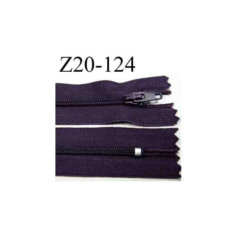 Fermeture clair longueur 20 cm couleur violet prune non - Violet prune couleur ...