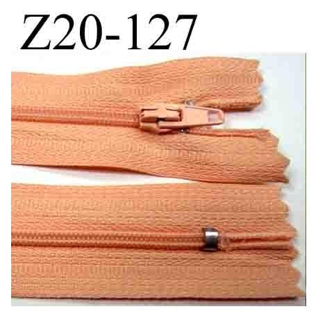 fermeture clair longueur 20 cm couleur rose saumon non s parable zip nylon largeur 2 5 cm. Black Bedroom Furniture Sets. Home Design Ideas