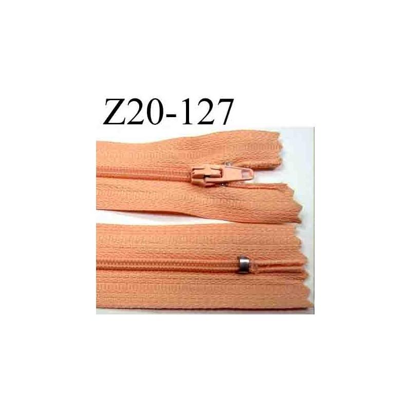 fermeture zip longueur 20 cm couleur rose saumon non s parable zip nylon largeur 2 5 cm largeur. Black Bedroom Furniture Sets. Home Design Ideas