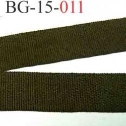 biais galon ruban gros grain couleur vert kaki double face largeur 15 mm vendu au mètre