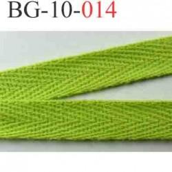 biais sergé galon ruban couleur vert anis  largeur 10 mm vendu au mètre