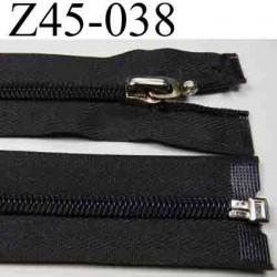 fermeture éclair longueur 45 cm couleur gris anthracite séparable zip nylon  largeur 3.2 cm largeur du zip 6 mm curseur métal