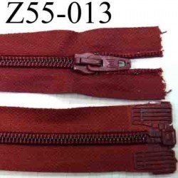 fermeture éclair longueur 55 cm couleur rouge bordeau séparable largeur 3.2 cm zip glissière nylon largeur 6 mm