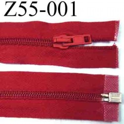 fermeture 55 cm rouge séparable zip nylon