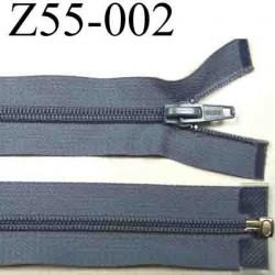 fermeture 55 cm gris bleuté séparable zip nylon