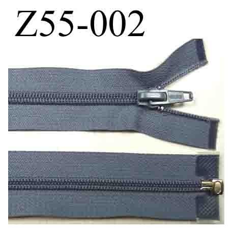 fermeture 55 cm gris séparable zip nylon