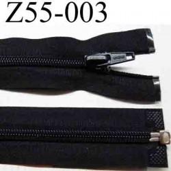 fermeture éclair longueur 55 cm couleur noir séparable largeur 3.2 cm zip glissière nylon largeur 6 mm