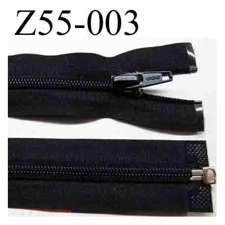 fermeture 55 cm noir séparable zip nylon