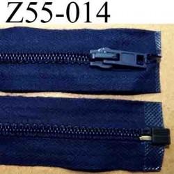 fermeture éclair longueur 55 cm couleur bleu marine séparable largeur 3.2 cm zip glissière nylon largeur 6 mm