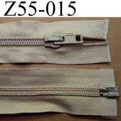 fermeture éclair longueur 55 cm couleur beige séparable largeur 3.2 cm zip glissière nylon largeur 6 mm