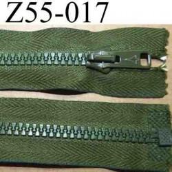 fermeture éclair longueur 55 cm couleur vert kaki séparable largeur 3.2 cm zip glissière nylon largeur 6 mm