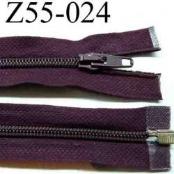 fermeture éclair longueur 55 cm couleur rouge bordeau violine séparable largeur 3.2 cm zip glissière nylon largeur 6 mm