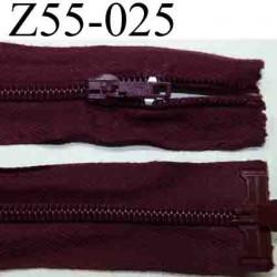 fermeture éclair longueur 55 cm couleur rouge bordeau lit de vin séparable largeur 3.2 cm zip glissière nylon largeur 6 mm