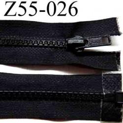 fermeture éclair longueur 55 cm couleur noir zip moulé séparable largeur 3.2 cm zip glissière nylon largeur 6 mm