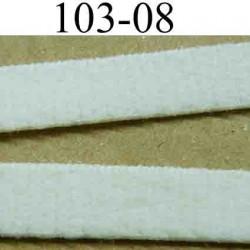élastique plat largeur 8 mm couleur naturel  vendu au mètre