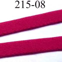 élastique plat petit grain largeur 8 mm couleur rouge groseille  vendu au mètre