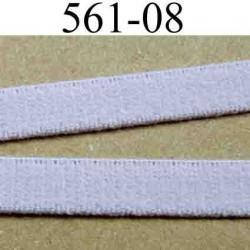 élastique plat largeur 8 mm couleur lilas  vendu au mètre