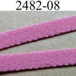 élastique plat  largeur 8 mm couleur rose confetti  vendu au mètre
