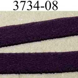 élastique plat  largeur 8 mm couleur cassis vendu au mètre