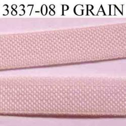 élastique plat petit grain  largeur 8 mm couleur rose pétale vendu au mètre