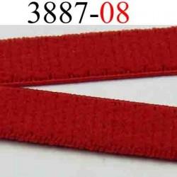 élastique plat largeur 8 mm couleur rouge sevillane vendu au mètre
