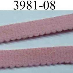 élastique plat largeur 8 mm couleur rose p de galles vendu au mètre