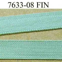 élastique plat fin largeur 8 mm couleur vert vendu au mètre