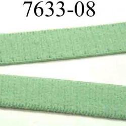 élastique plat  largeur 8 mm couleur vert vendu au mètre