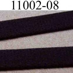 élastique plat  largeur 8 mm couleur marron chocolat vendu au mètre