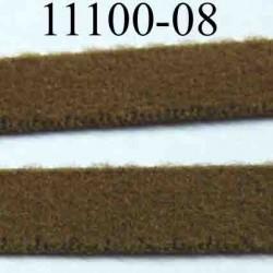 élastique plat  largeur 8 mm couleur marron rasta vendu au mètre