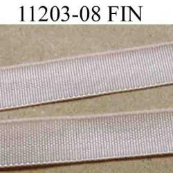élastique plat fin largeur 8 mm couleur pèche clair vendu au mètre