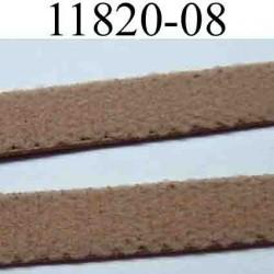 élastique plat largeur 8 mm couleur marron nougatine vendu au mètre