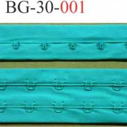 bande ruban galon  agrafe et crochet couleur vert pour la fermeture de corset, bustier, largeur 30 mm vendu au metre