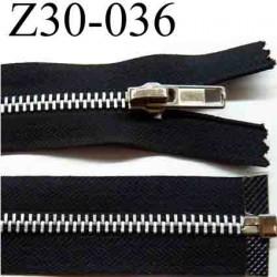 fermeture éclair longueur 30 cm couleur noir  séparable  largeur 3 cm zip glissière métal largeur du zip 6 mm