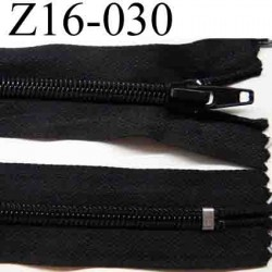 fermeture éclair longueur 16 cm couleur noir non séparable zip nylon largeur 3.2 cm largeur du zip 6 mm
